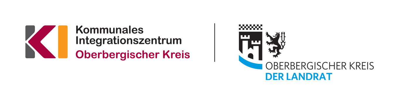 Logo Kommunales Integrationszentrum Oberbergischer Kreis, in Kooperation mit dem Integration Point/ Jobcenter Oberberg