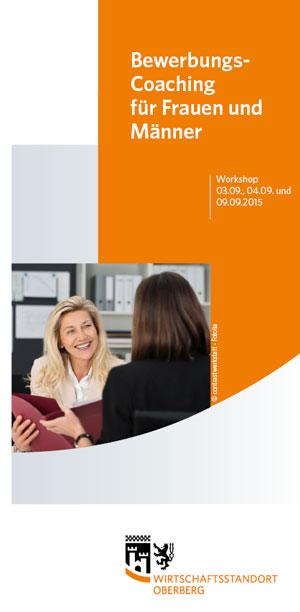 ausschnitt des flyer titels workshop bewerbungscoaching fotoobk - Flyer Bewerbung
