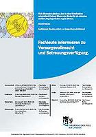 """Werbeflyer für """"Fachleute informieren zu Vorsorgevollmacht und Betreuungsverfügung"""""""