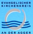 """Logo des Ev. Kirchenkreises an der Agger mit dem Text """"Evangelischer Kirchenkreis an der Ag-ger"""""""
